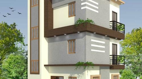 Bungalow 3D Exterior Design view 01 - Visakhapatnam - Mr.Murlidhar