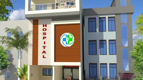 Dr.Azmat-Jaunpur-Uttar-Pradesh-Hospital-3D-Exterior-View-02