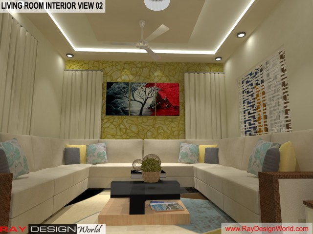 Living Room  Interior Design view 02 - Vadodara Gujarat - Mr.Chirayu Soni