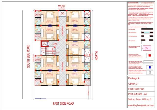 Guest House First Floor Plan - Lucknow UP - Mr. Narendra Kumar Tripathi