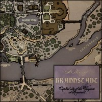 Medieval-fantasy map of the fictional City of Brannstadt