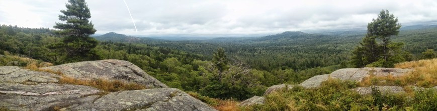Panoramic view atop Hogback