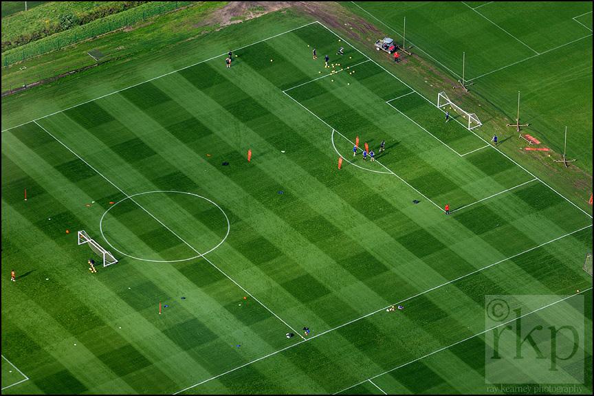 Aerial shot of Carrington Training Complex