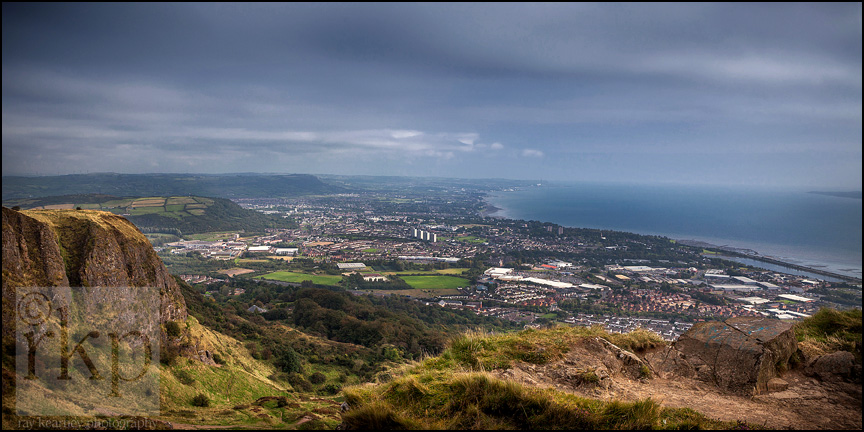 View from the summit of the Cavehill
