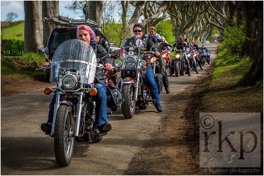 Dark Hedges bikers 040