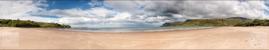 Waterfoot beach panorama