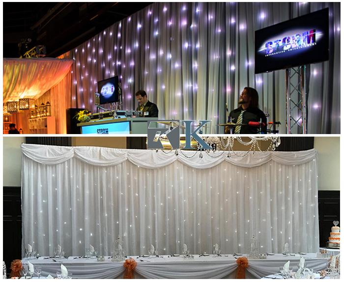 RK LED backdrop drapes curtains