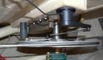 Raymarine roerstand gever gemonteerd