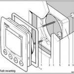 Raymarine ST60 Plus Flush mount compleet A25003