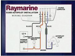 Raymarine installatie ST1000 computer aansluiten op de voeding