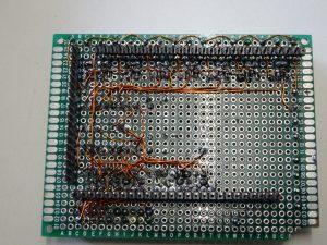 Arduino PCB onderkant met pinnen voor de Arduino Mega