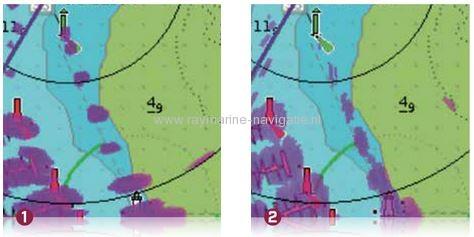 Quantum radarantenne vergelijk radarbeeld verschil met oude