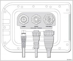 Raymarine A-serie aansluitingen kaartplotter met fishfinder SeaTalk nextgeneration