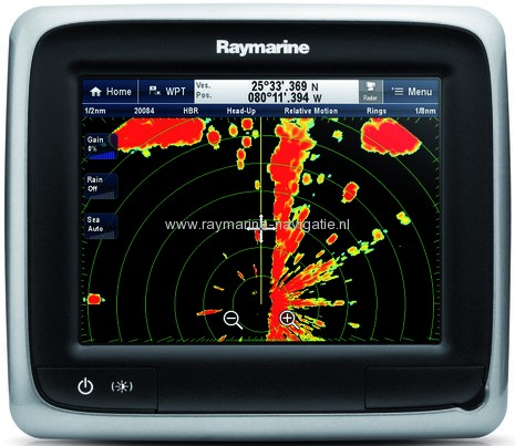 Raymarine a-Series radarbeeld touch screen