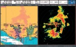 Raymarine firmware van C70 mist radar overlay