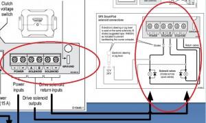 Raymarine spx SOL stuurautomaat E12205 solenoid aansluiting met diode