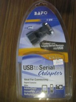 USB2.0 naar RS232 connector met USB-B en USB-A BAFO pakket