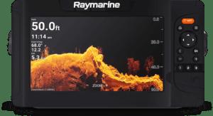 Voorkant van de Raymarine Element 9 hypervision fishfinder