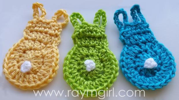 DIY Crochet Easter Bunny Applique