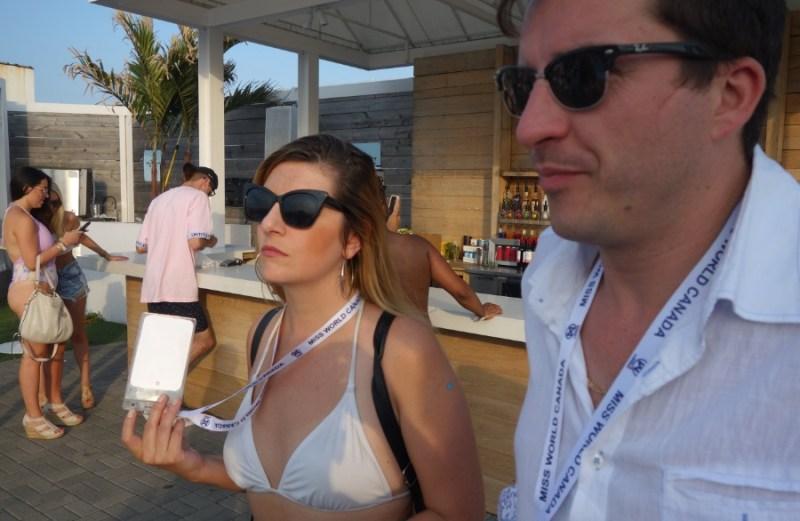 Raymi with Ryan at Cabana Pool Bar in Toronto