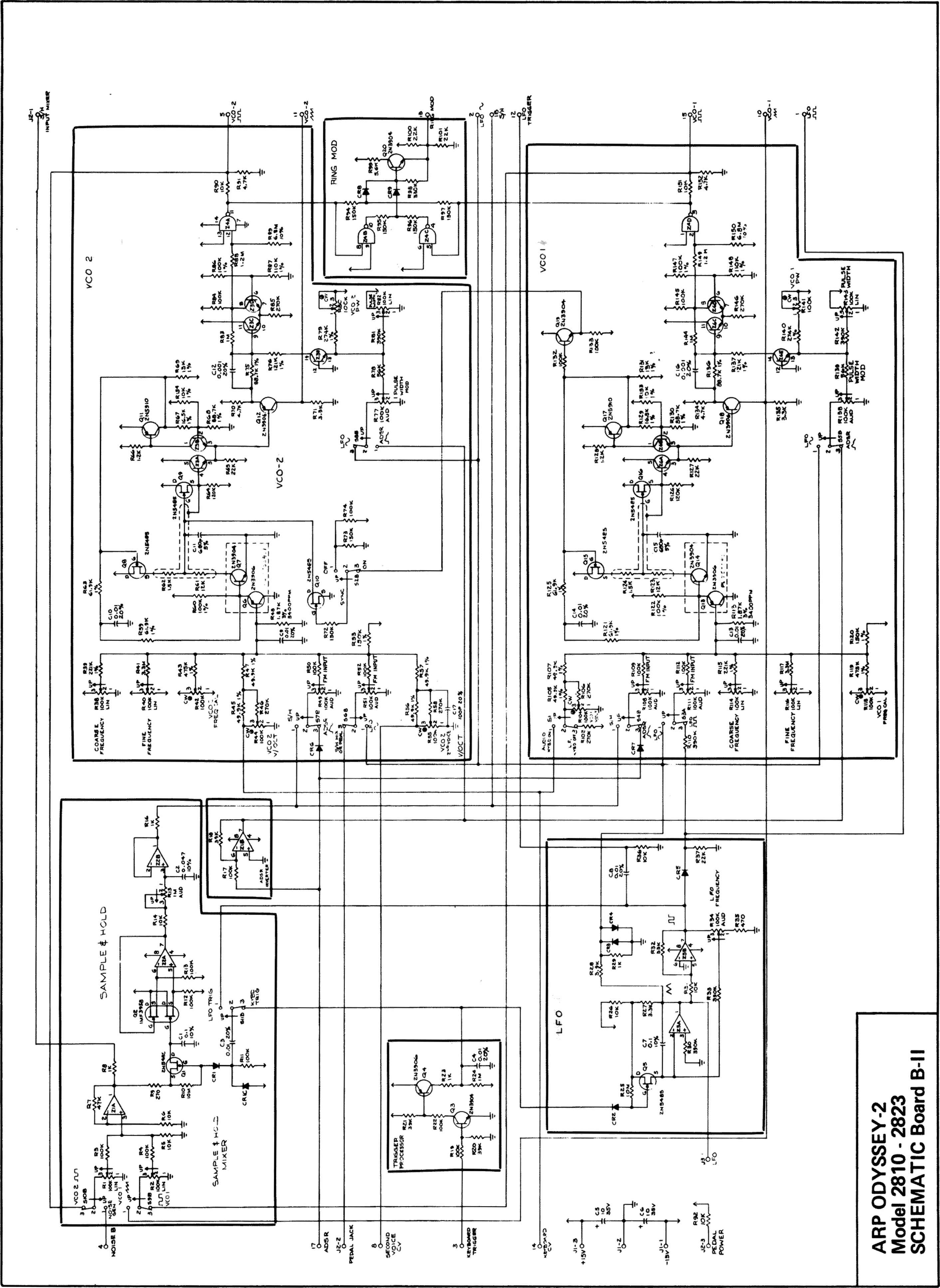 Arp Odyssey Model Schematic Board Bl