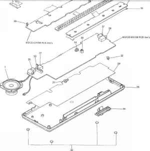 Parts List  Electronic Keyboard K  Ray Repair Services