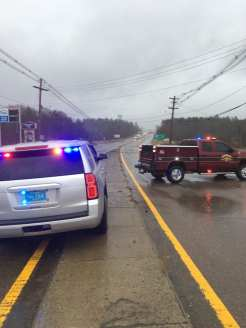 Motorists are urged to avoid Route 44. (Courtesy Photo Raynham Police Department)