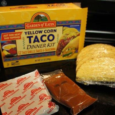 Quick Organic Taco Meal- Garden of Eatin Taco Dinner Kit