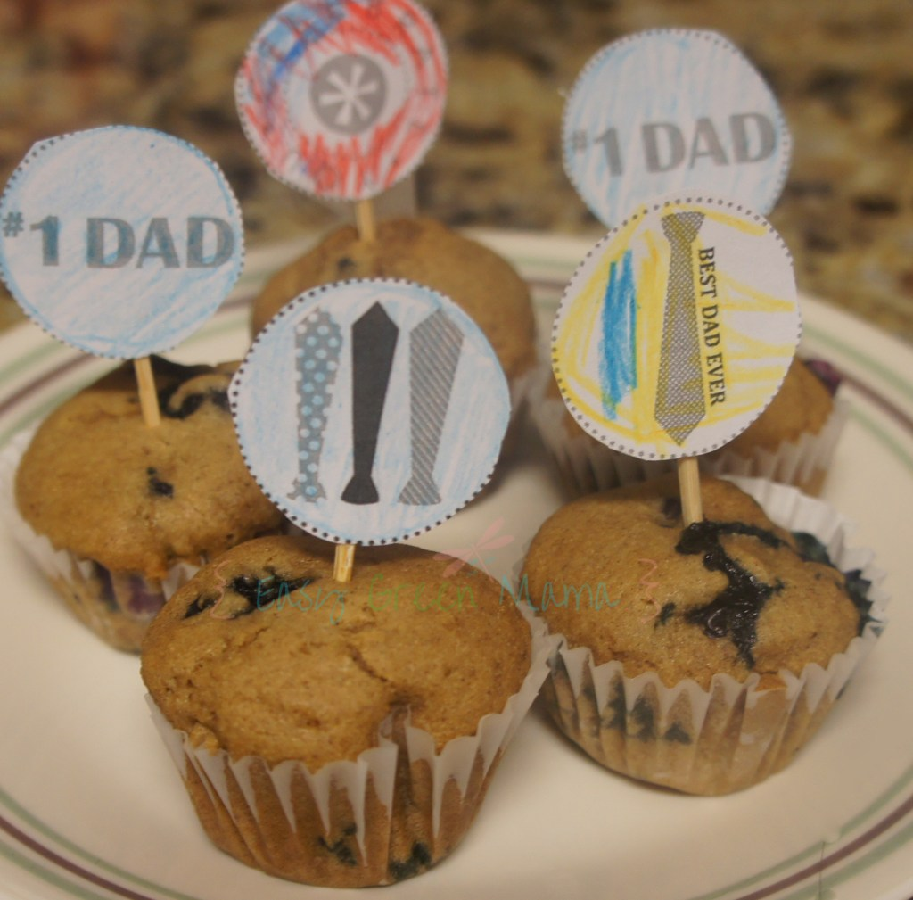 Father's day cupcake muffin topper