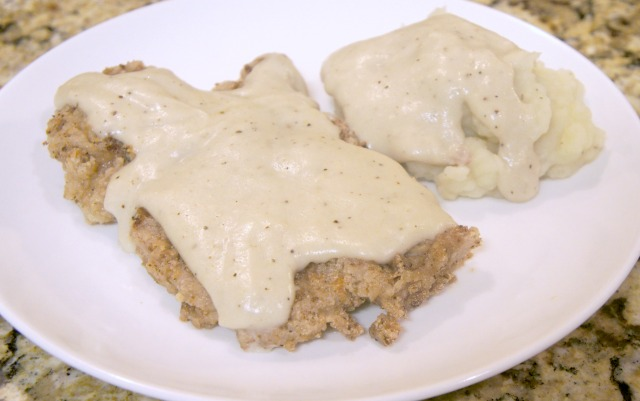 Gluten Free Free Country Fried Steak with Mashed Potatoes & Gravy