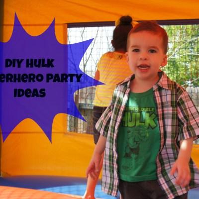 DIY Hulk Superhero Birthday Party Ideas ~ Printable Superhero Squad Cupcake Toppers