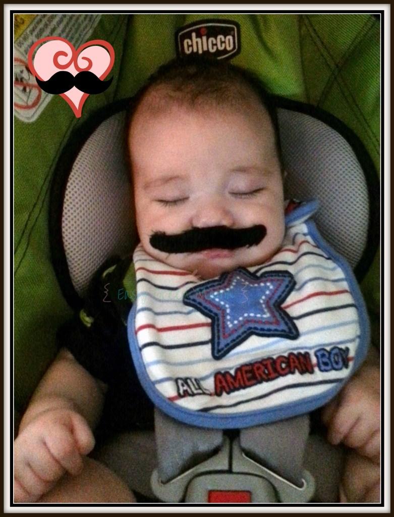 mustache baby love