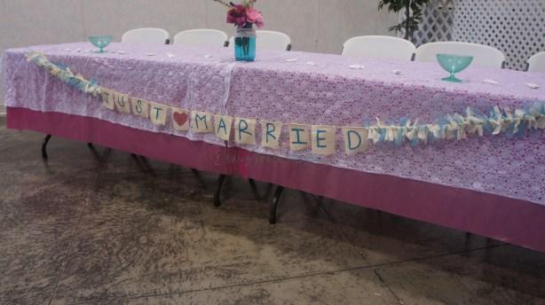 DIY burlap Wedding Banner