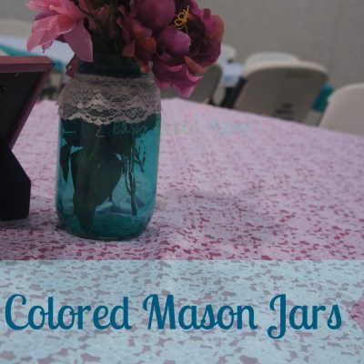 DIY Colored Mason Jars ~ Country Wedding Centerpiece Ideas