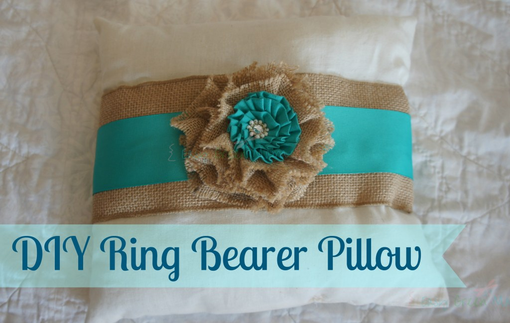 DIY Ring Bearer Pillow