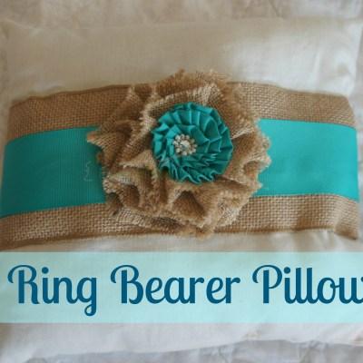 DIY Ring Bearer Pillow ~ Cheap & Easy