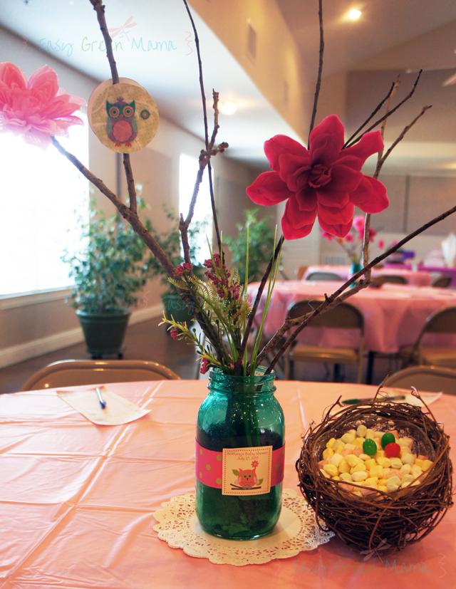 Owl Themed Baby Shower Centerpieces