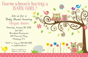 Whimsey Owl Whimsical Girl Baby Shower Invitation