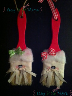 Santa Paintbrush Ornament