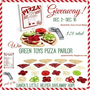 Santa's Little Helper Giveaway Hop ~ Green Toys Pizza Parlor Giveaway!