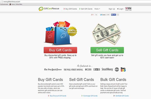 Giftcardrescue.com Screenshot