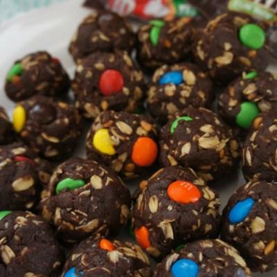 Gluten-Free No Bake Brownie Bites with Candy