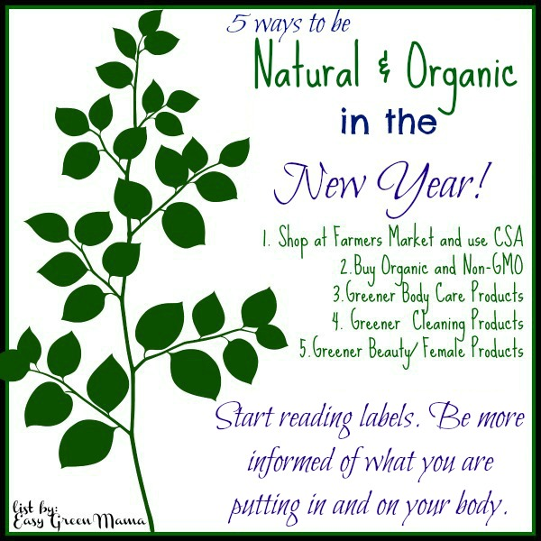 Natural & Organic in the New Year