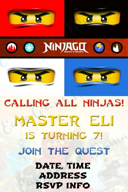 ninjago invite EXAMPLE