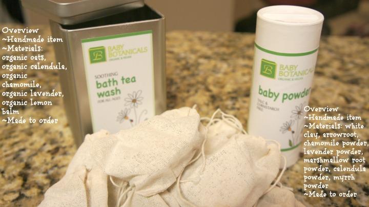 Baby Botanicals: Bath Tea Wash and Baby Powder