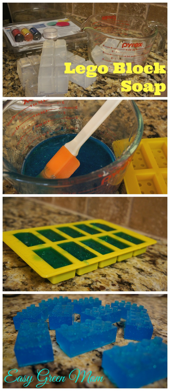 Lego Block Soap for Party Favor Bags