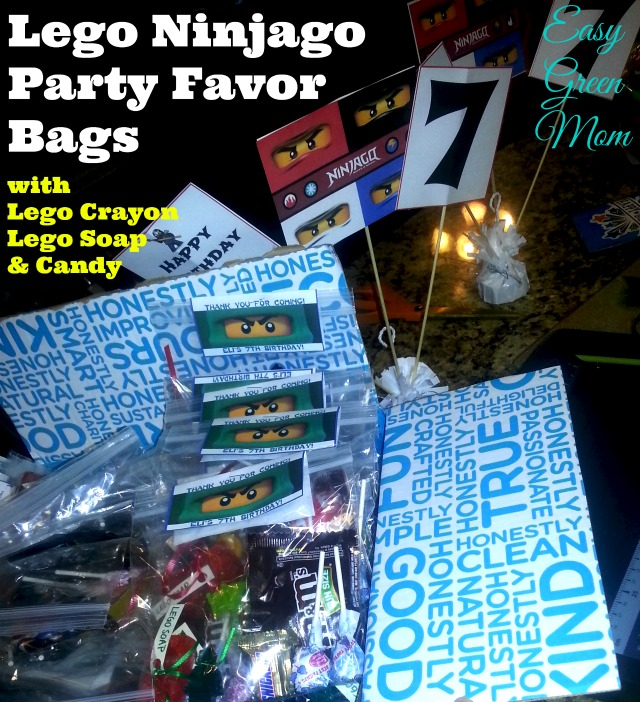 Lego Ninjago Party Favor Bags