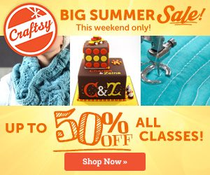 Craftsy's BIG Summer Sale: Save Up to 50% on ALL Online Classes!
