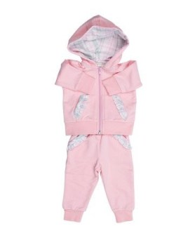 Baby Organic Hoodie Jacket and Pant Set for a Girl!