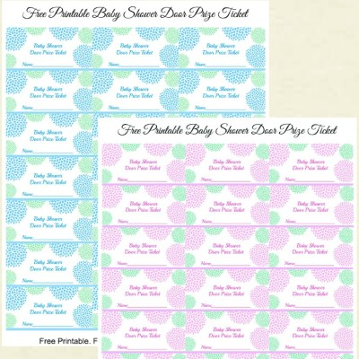 Free Printable Baby Shower Door Prize Tickets for Boy or Girl